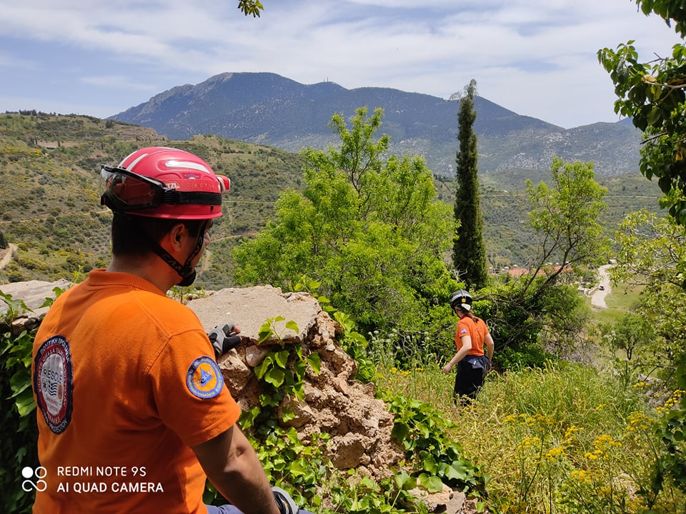 Search and rescue operation for a missing person in Arachova