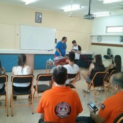 School of Teen rescuers - Lesson on first aid provision to injured or wounded victims